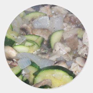 lagad mat kryddad höna för veggies n runt klistermärke