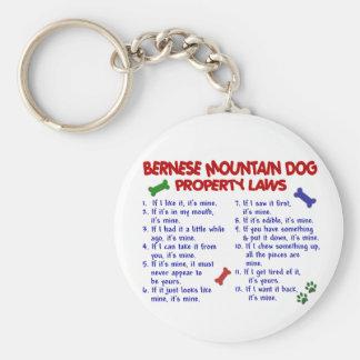 Lagar 2 för egendom för BERNESE-BERGHUND Rund Nyckelring