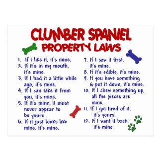 Lagar 2 för egendom för CLUMBER-SPANIEL Vykort