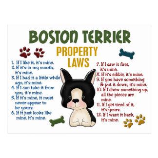 Lagar 4 för Boston Terrieregendom Vykort