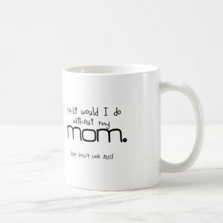 """""""Lagar sig mat mamma… bacon inte"""" muggen Vit Mugg"""