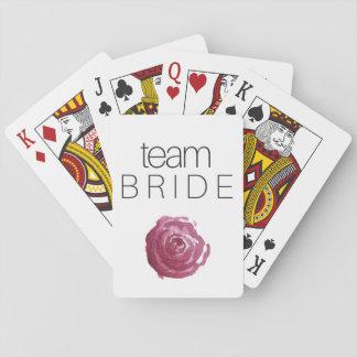 LAGBRUD; ; Bachelorette som leker kort Spel Kort