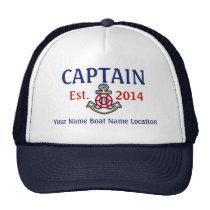 Läge för namn för år för Personalizable kaptenhatt Keps