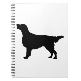 Lägenhet-Jackade hundar för Anteckningsbok Med Spiral