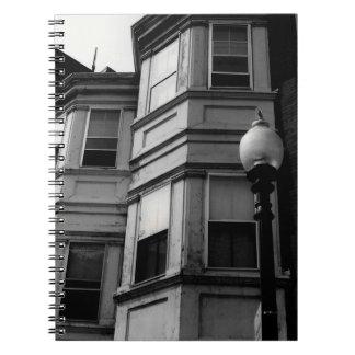 Lägenheten Windows B&W fotograferar Anteckningsbok