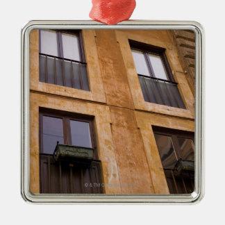 Lägenhetfönster, Rome, italien Julgransprydnad Metall