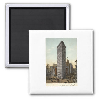Lägenhetjärnbyggnad, New York City vintage 1918 Magneter