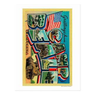 Läger Beale, Kalifornien - stora brevplatser Vykort