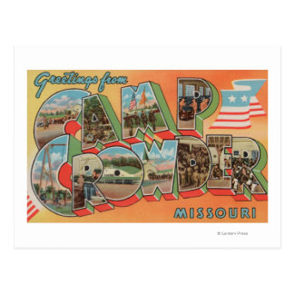 Läger Crowder, Missouri - stora brevplatser Vykort
