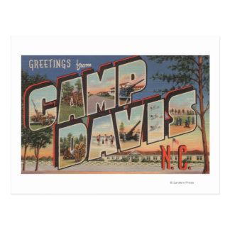 Läger Davis, North Carolina - stora brevplatser Vykort