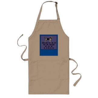 Lager för blått för hundGrogdag Långt Förkläde