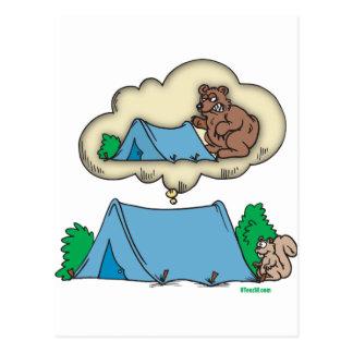 Läger-föreställ Vykort