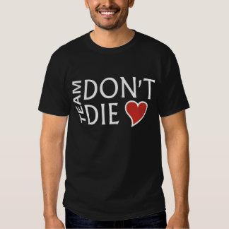 Laget dör inte - den grundläggande svart T-tröja Tröja