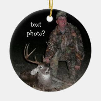 Lägg till bild jägare för julsamlingshjort julgransprydnad keramik