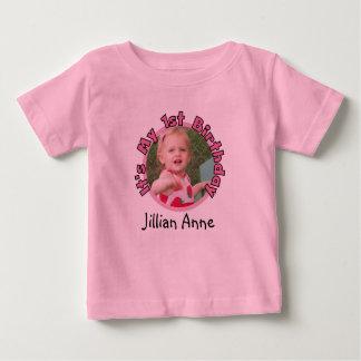 Lägg till bild och känd 1st födelsedagT-tröja för Tee Shirt