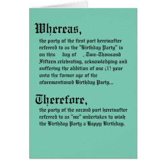 Lagligt avtala födelsedagkortet hälsningskort