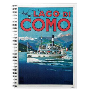 Lago di Como Anteckningsbok Med Spiral