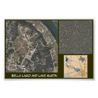 Lago och sjö Austin Poster