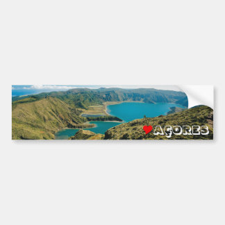Lagoa gör Fogo, Azores Bildekal