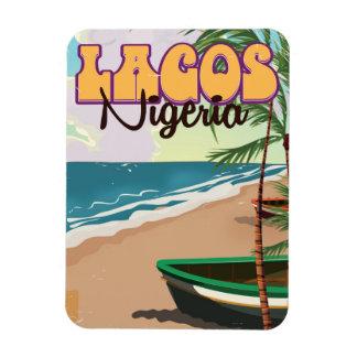 Lagos Nigeria vintage resoraffisch Magnet