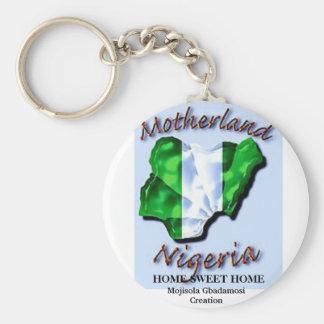 LAGOS skräddarsy STATLIGA NIGERIA - Rund Nyckelring