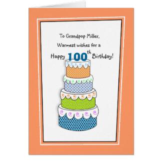Lagrar av den 100. födelsedagen för braönskemål hälsningskort
