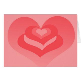 Lagrar av kärlekhjärta Notecard eller inbjudan Hälsningskort