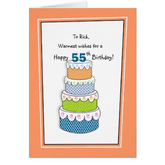 Lagrar av önskemål 55th eller några åldras hälsningskort