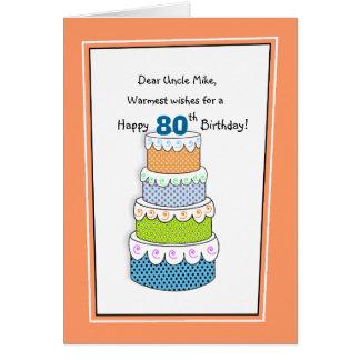 Lagrar av önskemål 80th eller några åldras hälsningskort