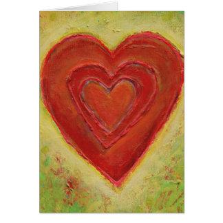 Lagrar - rik organisk hjärtamålning SKRÄDDARSY DET Hälsningskort