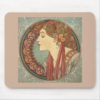 Lagrar vid den konstnärAlphonse Mucha art nouveau Mus Matta
