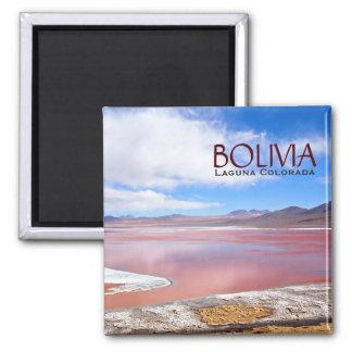 Laguna Colorada i Bolivia textmagnet Magnet