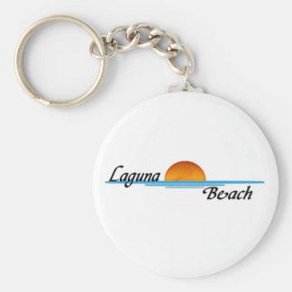Laguna strand rund nyckelring