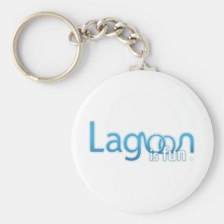 Lagunen är den roliga logotypen rund nyckelring
