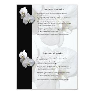 Lakan 3 för information om vitOrchids 12,7 X 17,8 Cm Inbjudningskort