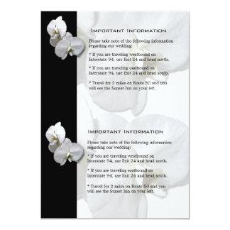 Lakan 4 för information om vitOrchids 12,7 X 17,8 Cm Inbjudningskort