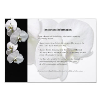 Lakan för information om vitOrchids 8,9 X 12,7 Cm Inbjudningskort