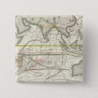 Läkarundersökningkarta av indiska hav standard kanpp fyrkantig 5.1 cm
