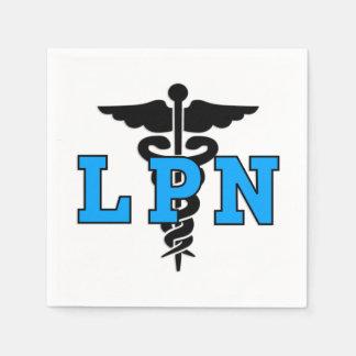 Läkarundersökningsymbol för sjuksköterskor LPN Papper Servetter