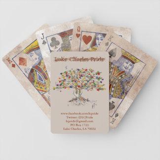 Lake Charles prideträd som leker (bedrövade) kort, Spelkort