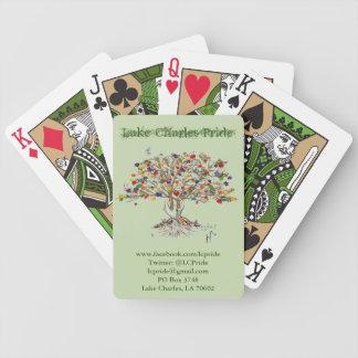 Lake Charles prideträd som leker kort (grönt) Spelkort
