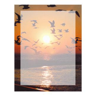 Lake Erie solnedgång Brevhuvud