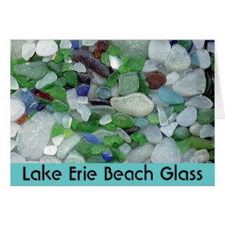 Lake Erie strandexponeringsglas Hälsningskort