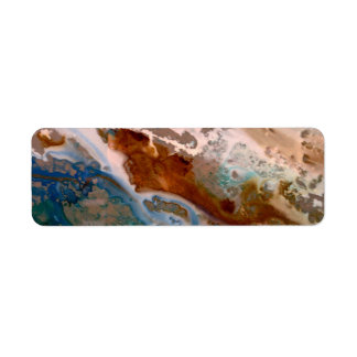 Lake Michigan granit Returadress Etikett