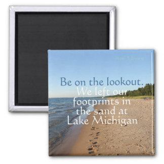 Lake Michigan reser kylmagneten Magnet