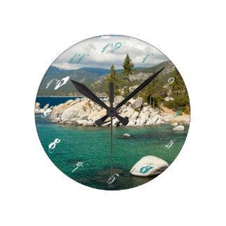 Lake Tahoe landskap Rund Klocka