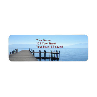 Lake Tahoe pir Returadress Etikett