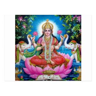 Lakshmi gudinna av kärlek, välstånd och rikedom vykort