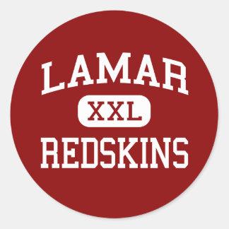 Lamar - Redskins - högstadium - Houston Texas Runt Klistermärke