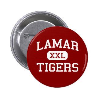 Lamar - tigrar - högstadium - Lamar Missouri Standard Knapp Rund 5.7 Cm